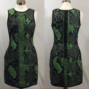 Pink Tartan Snake Print Dress w/ Pockets Sz 4